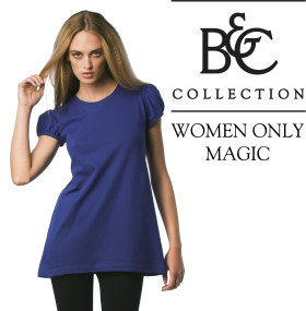 Relatiegeschenk B&C shirt Women-Only Magic