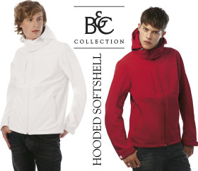 L'objet publicitaire B&C Hooded Softshell / Men