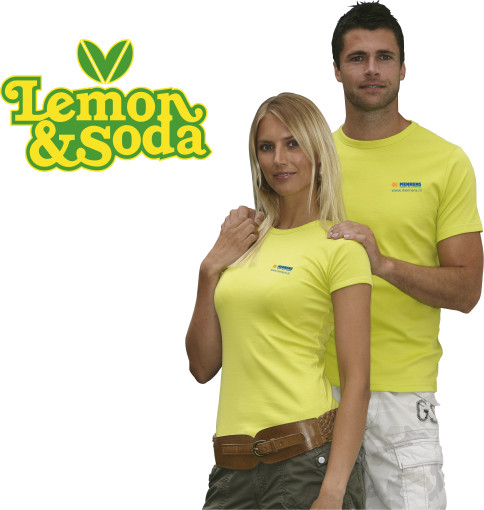 Imprimer l'objet publicitaire Lemon & Soda 'Honululu' fit shirt for her