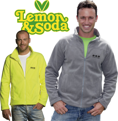 Relatiegeschenk Lemon & Soda cardigan Oakland for him bedrukken