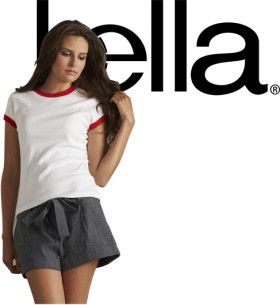 L'objet publicitaire Bella ladies short sleeve ringer