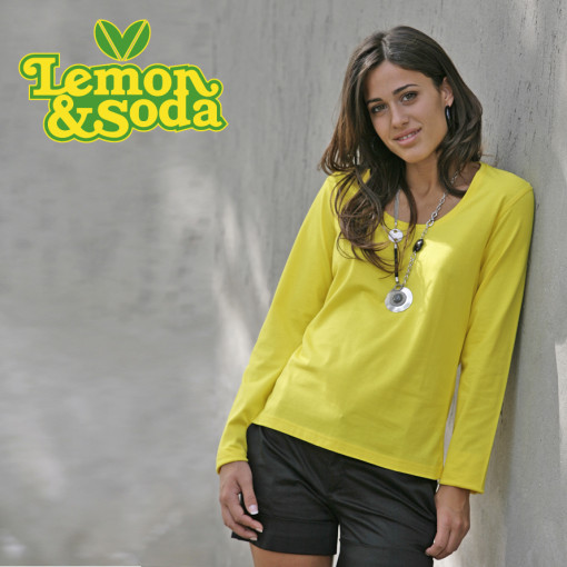 Relatiegeschenk Lemon & Soda iTee t-shirt L/S for her bedrukken