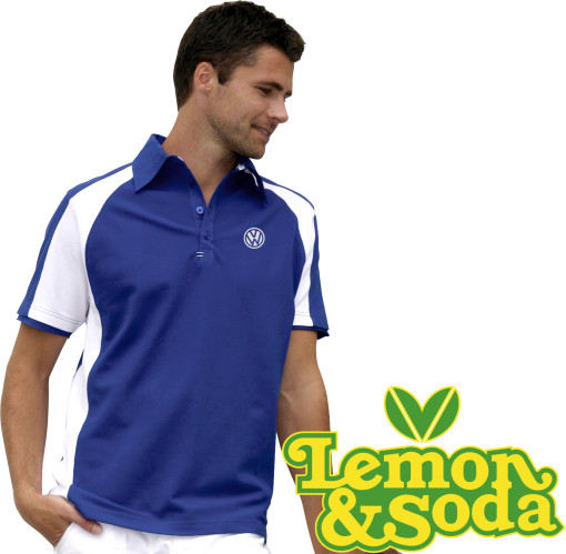 Relatiegeschenk Lemon & Soda polo Malibu for him bedrukken