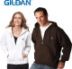 Relatiegeschenk Gildan heavyweight zip hooded sweatshirt bedrukken