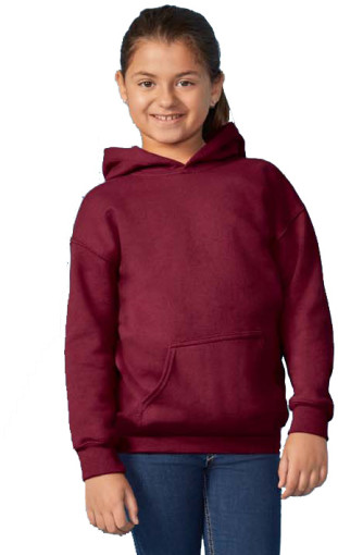 Relatiegeschenk Gildan Heavyweight Youth Hooded Sweater bedrukken