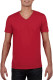 Gildan t-shirt SoftStyle V-neck for him - Rouge