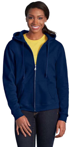 L'objet publicitaire Gildan Full Zipped Hooded Sweatshirt for Her