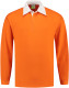Lemon & Soda Rugby Polo Longsleeve Heren - Oranje