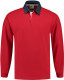 Lemon & Soda Rugby Polo Longsleeve Heren - Rood