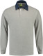 Lemon & Soda Rugby Polo Longsleeve Heren - Gemeleerd grijs/denim