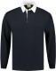 Lemon & Soda Rugby Polo Longsleeve Heren - Navy