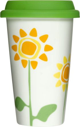 L'objet publicitaire Tasse Take away Flower