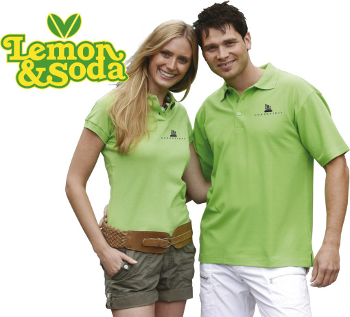 Relatiegeschenk Lemon & en Soda Mix-polo bedrukken