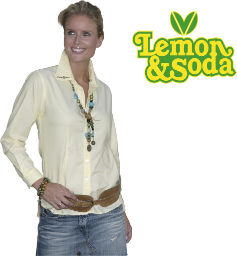 Relatiegeschenk Lemon & Soda Oxford shirt for her