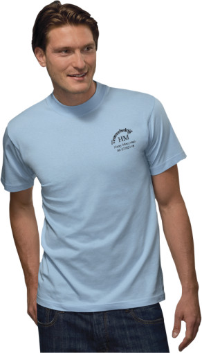 Relatiegeschenk Hanes t-shirt Top-T for him bedrukken