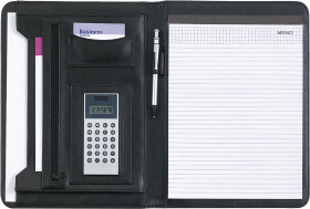 L'objet publicitaire Porte-documents A4 avec calculatrice dualpower
