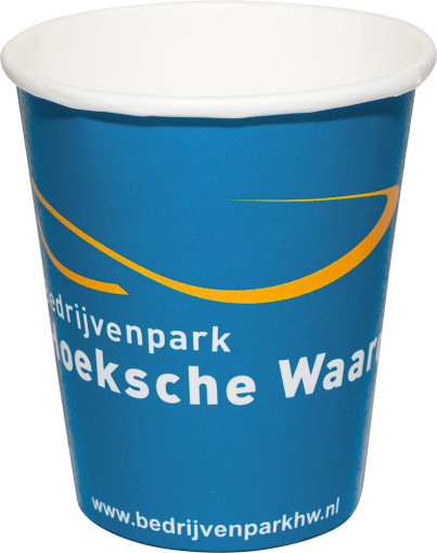 Relatiegeschenk Papieren drinkbeker Full Colour 180 ml bedrukken